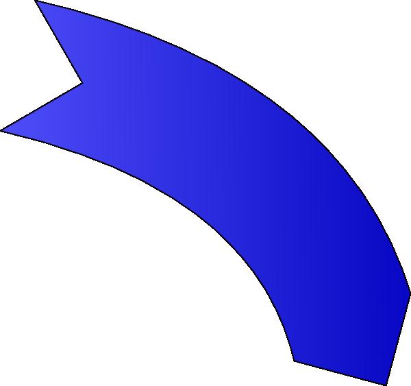 Curved arrow clip art blue clip black and white Blue Curved Arrow Clipart clip black and white