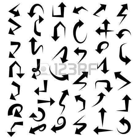 Clipart with a curved arrow crossword vector royalty free stock 6,605 Cross Arrow Cliparts, Stock Vector And Royalty Free Cross ... vector royalty free stock