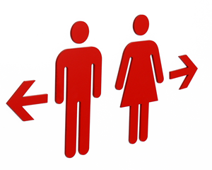 Clipart with arrow pointining left to restroom image freeuse library Directional Bathroom Signs | Directional Restroom Signs image freeuse library