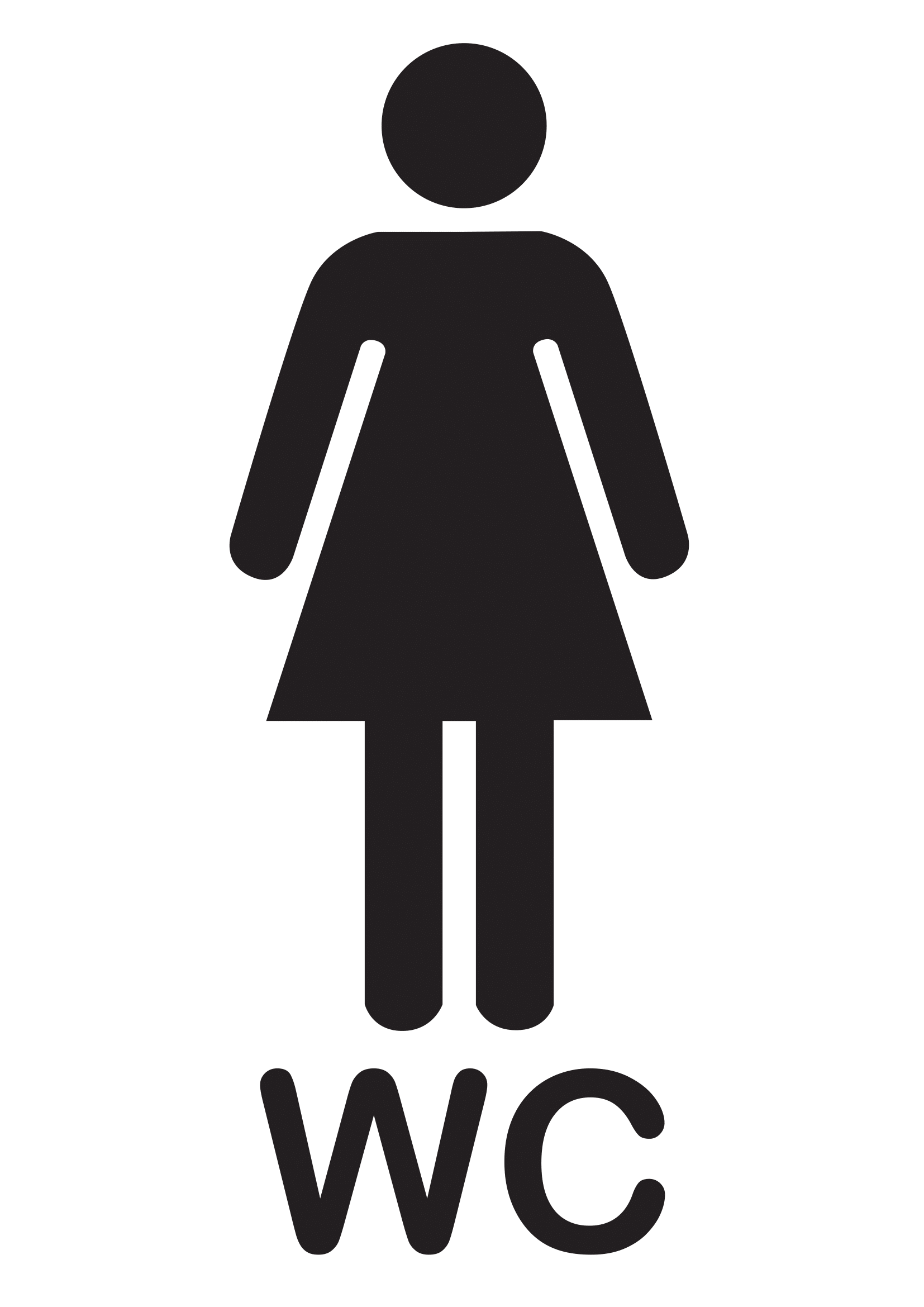 Clipart with arrow pointining left to restroom image black and white library Bathroom Signs | Poster Template image black and white library