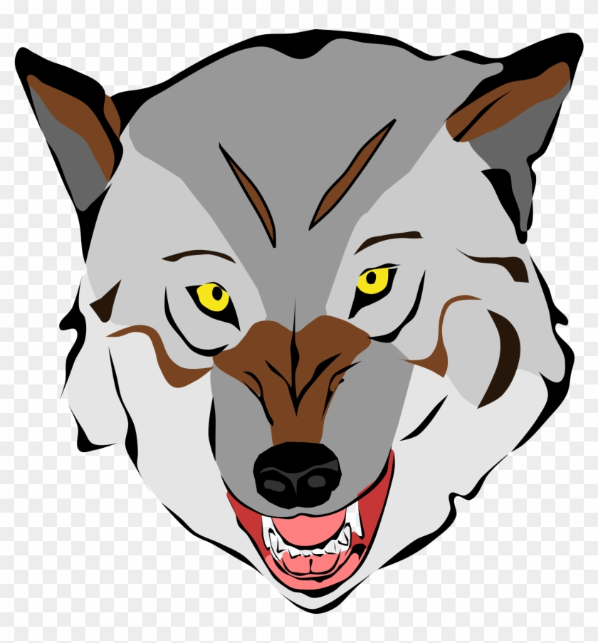 Clipart wolf face clip free Big Image - Custom Scary Wolf Shower Curtain - Free Transparent PNG ... clip free