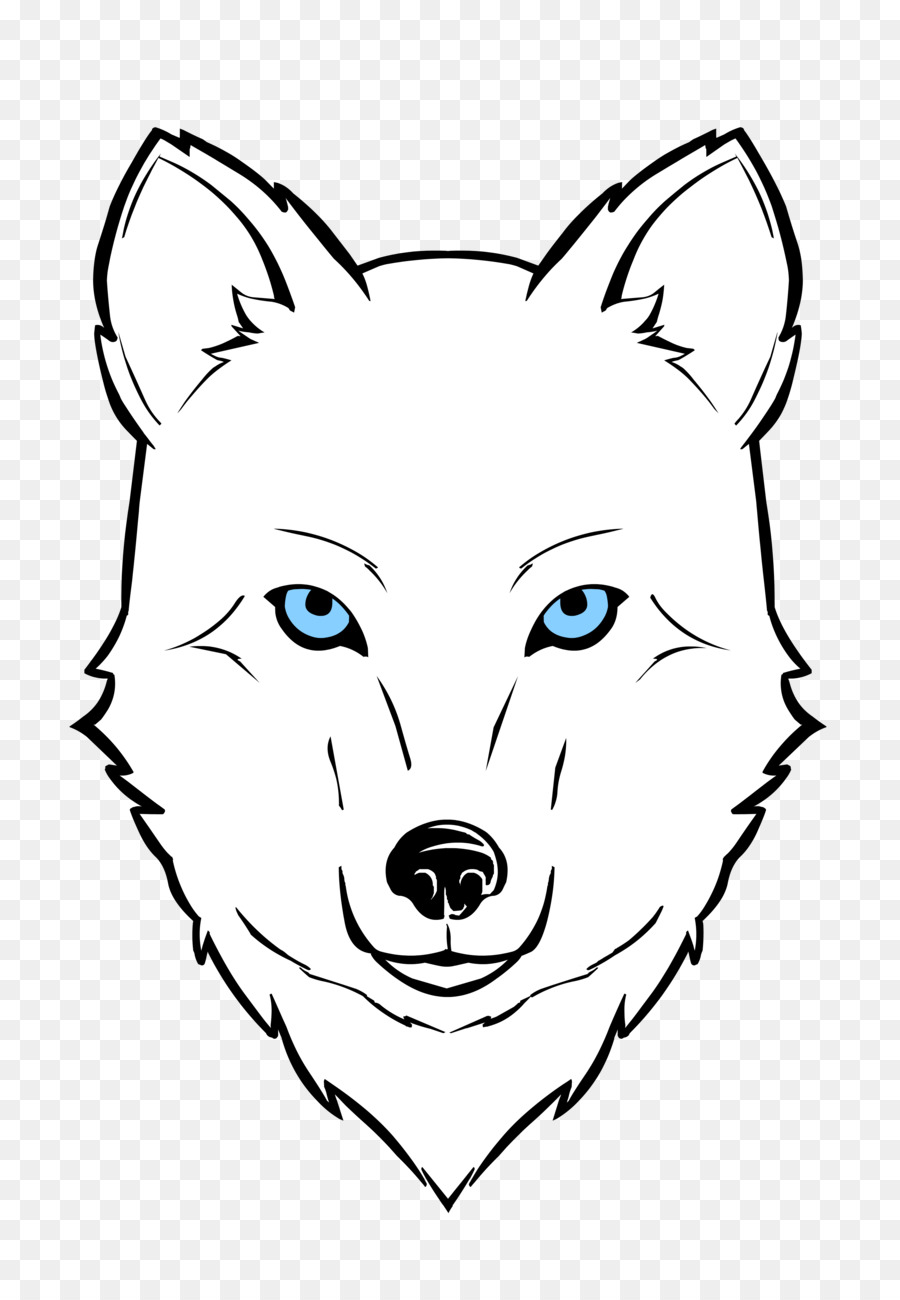 Clipart wolf face banner library Fox Drawing clipart - Wolf, Face, White, transparent clip art banner library