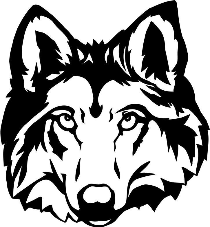 Wolf head outline clipart svg freeuse download Wolf Head Clipart & Look At Clip Art Images - ClipartLook svg freeuse download