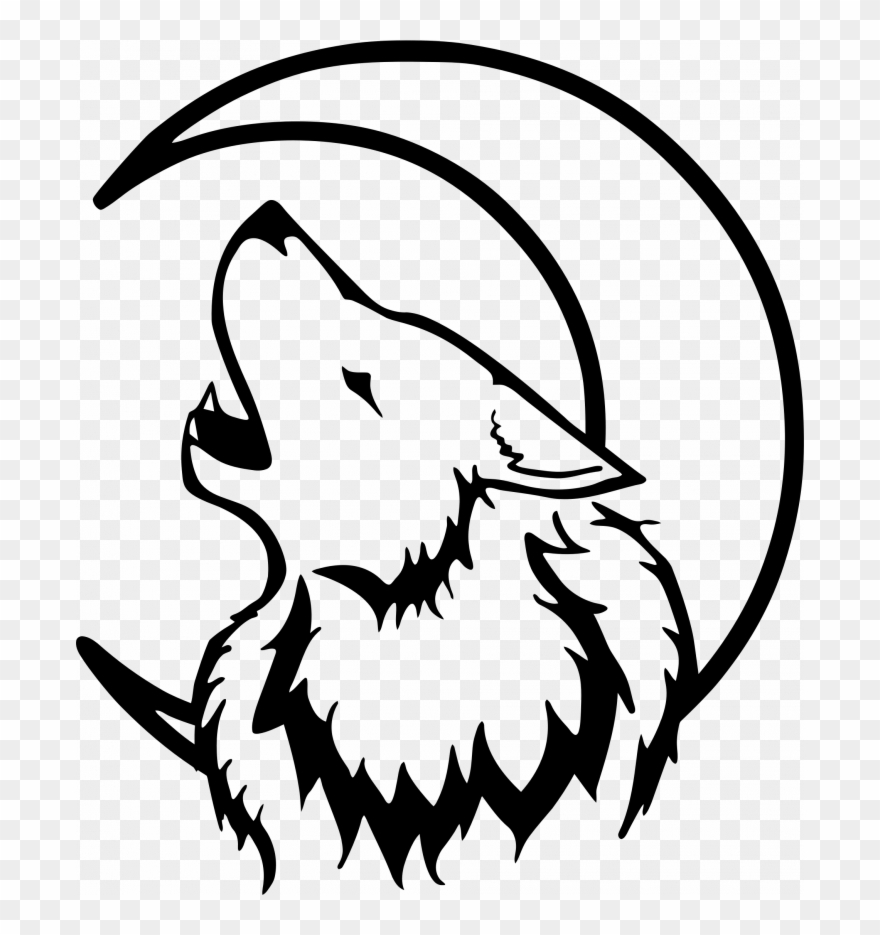 Wolf clipart easy clip art royalty free library Medium Size Of How To Draw An Easy Wolf Face Half A - Wolf And ... clip art royalty free library