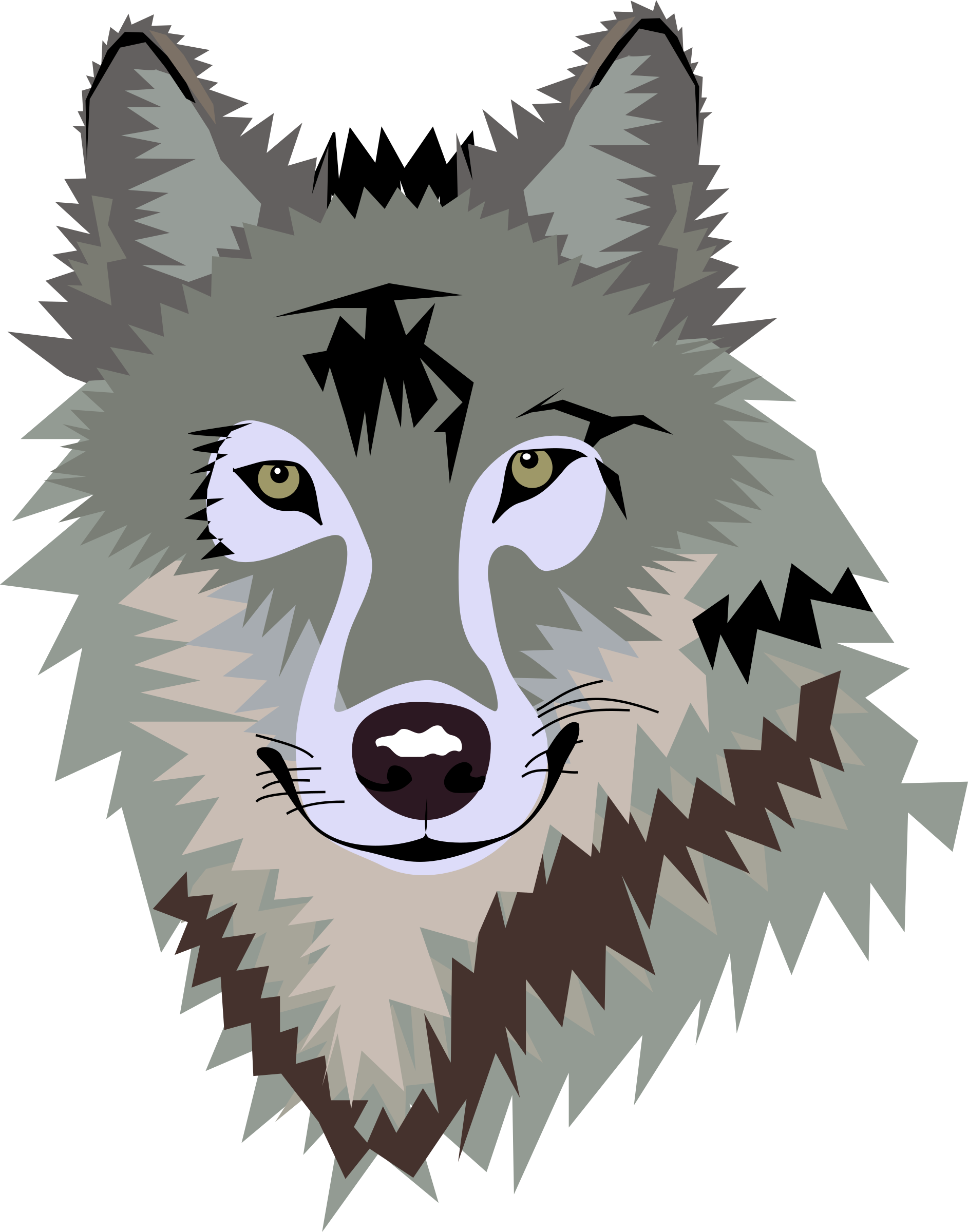 Clipart wolf face svg transparent download Image result for free clipart of wolves | PTA | Wolf clipart, Wolf ... svg transparent download