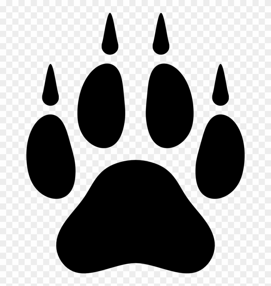 Clipart wolf paw print clip art library download Monster Clipart Footprint - Wolf Paw Print Png Transparent Png ... clip art library download