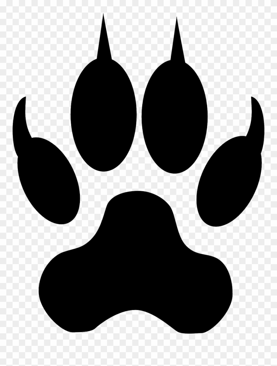 Clipart wolf paw print svg freeuse stock Image For Footstep Track Animal Clip Art - Blue Wolf Paw Print Throw ... svg freeuse stock
