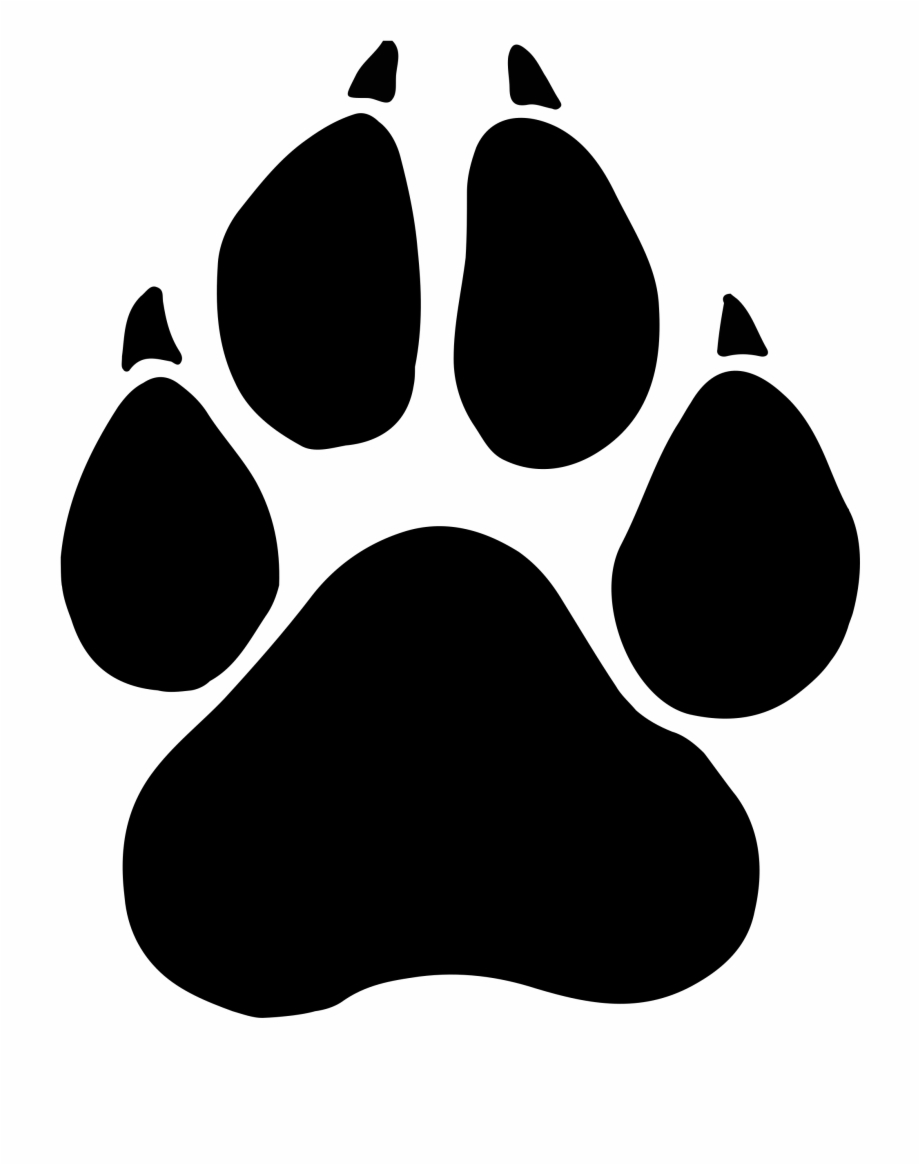 Free clipart panther paw. Collection of svg file