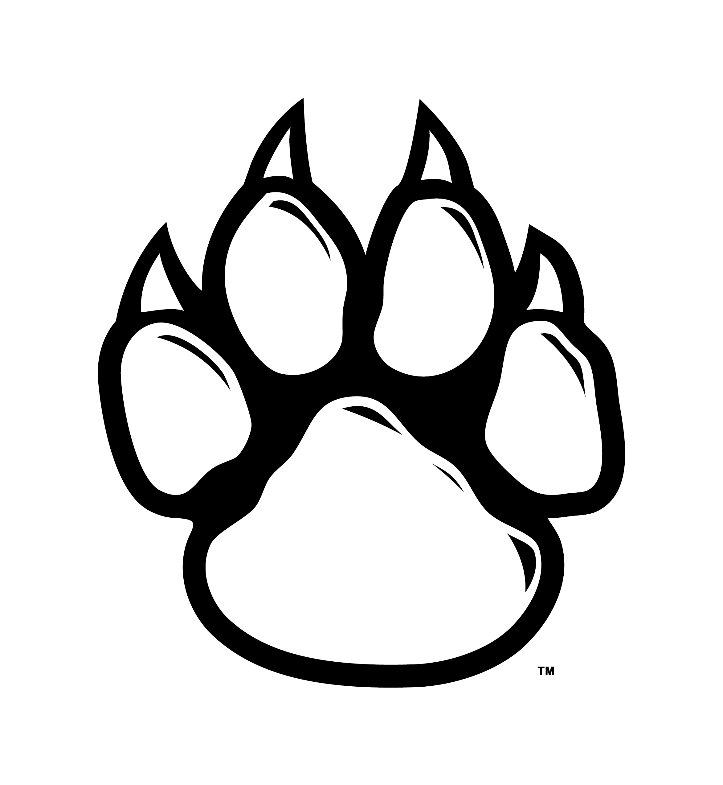 Clipart wolf paw print picture library library arizona wildcat pawprint black and white - Google Search | Soccer ... picture library library