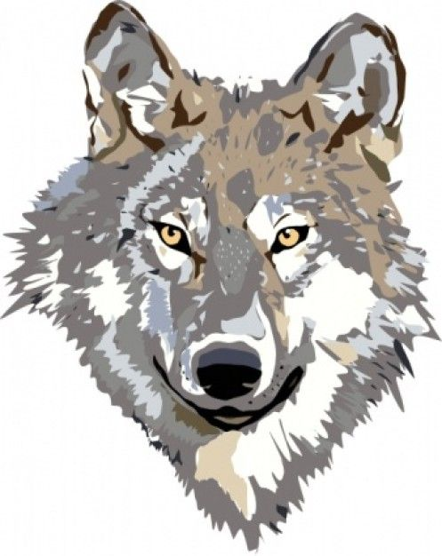 Wolf dog clipart
