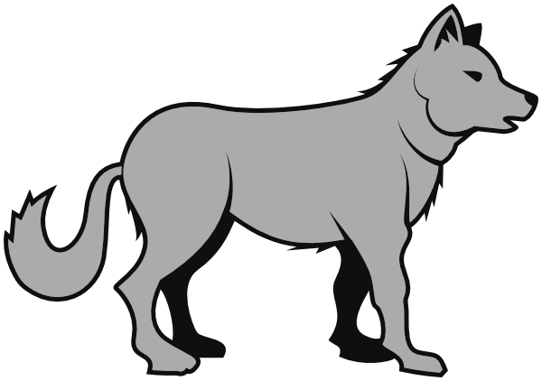 Free cartoon wolf clipart. Cliparts download clip art