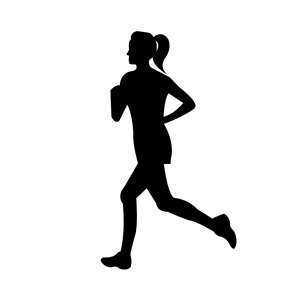Clipart woman running clipart black and white library Woman Running clipart, cliparts of Woman Running free download (wmf ... clipart black and white library