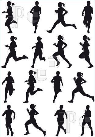 Clipart woman running image royalty free Woman Runner Running Marathon Silhouette Clipart - Free Clip Art ... image royalty free