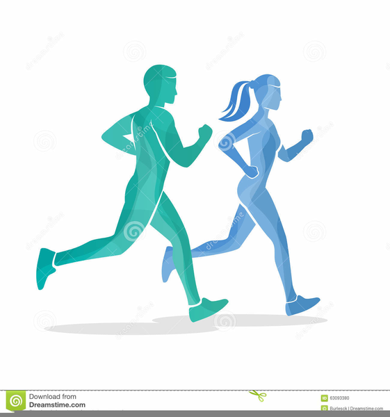 Clipart woman running clipart Man And Woman Running Clipart | Free Images at Clker.com - vector ... clipart