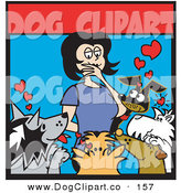 Clipart woman surrounded by dogs png download Dog Clinic png download