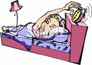 Clipart woman turning off alarm banner Picture: A Woman Yawning and Turning Off Her Alarm Clock banner