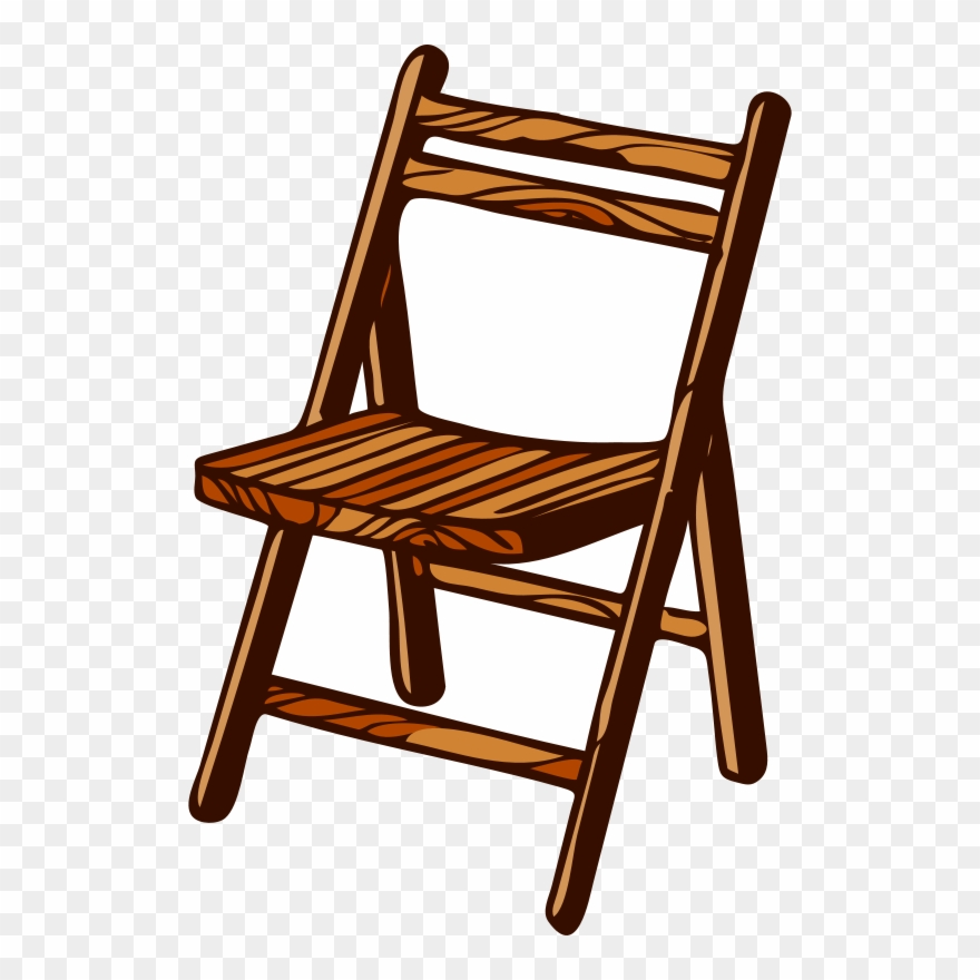 Clipart wooden chair graphic royalty free download Folding Chair Furniture Wood Bench - Wooden Chair Clipart - Png ... graphic royalty free download
