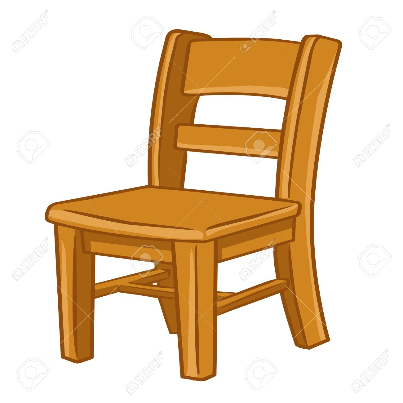 Clipart wooden chair black and white Wooden chair clipart 8 » Clipart Station black and white