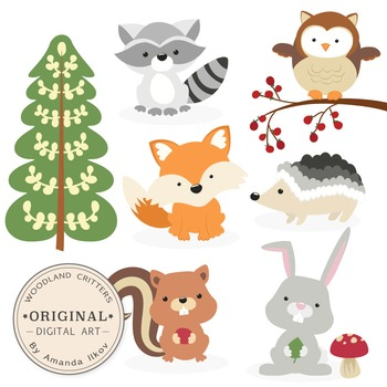 Woodland animal clipart banner freeuse library Premium Woodland Animals Clip Art & Vectors - Woodland Clipart, Forest  Clipart banner freeuse library