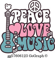 Peace love music clipart free clip freeuse library Woodstock Clip Art - Royalty Free - GoGraph clip freeuse library