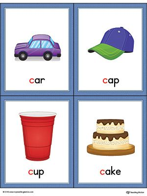 Things that start with the letter c clipart svg transparent Letter C Words and Pictures Printable Cards: Car, Cap, Cup, Cake ... svg transparent