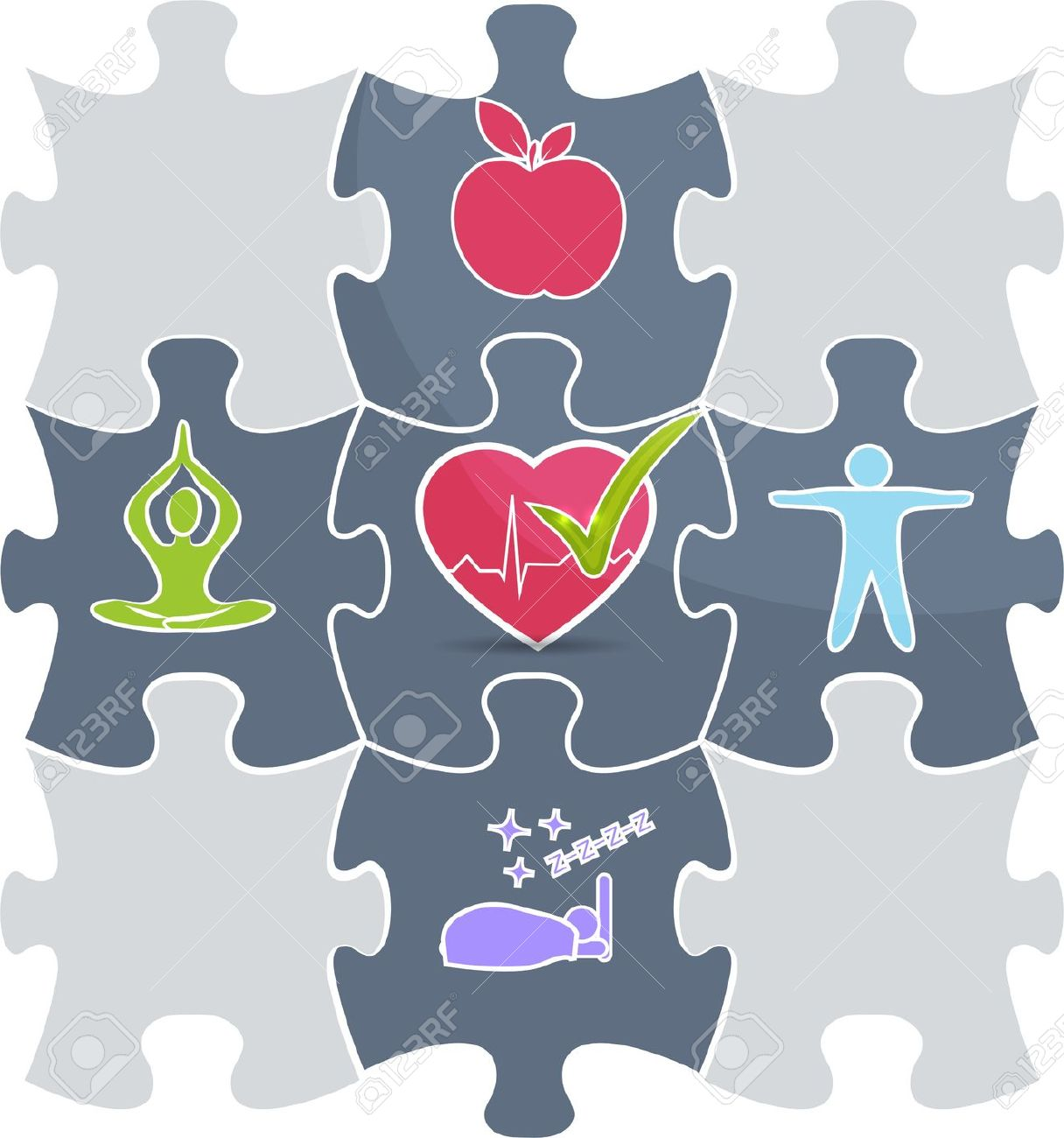 Clipart work life fit png freeuse Clipart work life fit puzzle - ClipartFest png freeuse