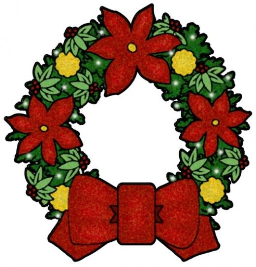 Xmas wreaths images clipart png download Free Christmas Clip Art Images - Nativity, Wreaths, Trees & More ... png download
