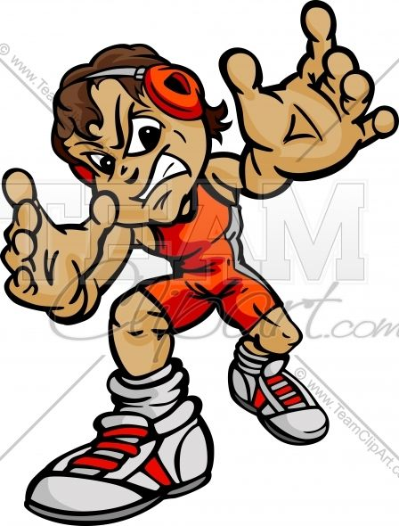 Wrestling birthday clipart picture wrestling cartoon body | Boy Wrestler Cartoon Vector Image | Team ... picture
