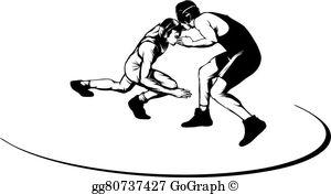 Wrestling vector clipart free clip transparent download Wrestling Clip Art - Royalty Free - GoGraph clip transparent download