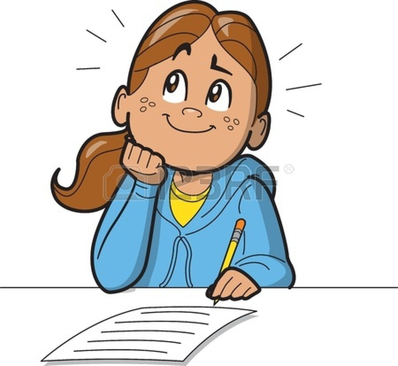 Clipart writing image graphic freeuse library Girl Writing Clipart 6 | Clipart Station inside Better Of Girl ... graphic freeuse library