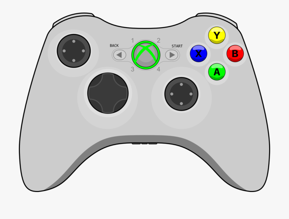 Xbox controller drawing clipart clip black and white download Video Game Clipart Vector - Xbox Controller No Background #184784 ... clip black and white download