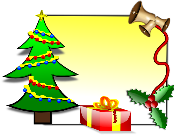 Clipart xmas cards picture free Christmas Card Template Clip Art at Clker.com - vector clip art ... picture free