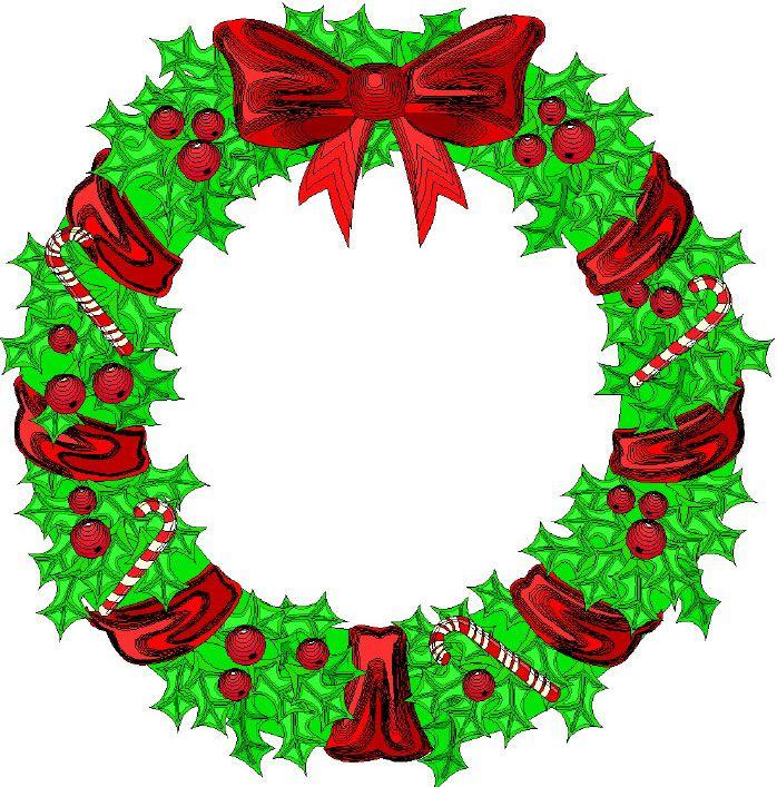 Clipart xmas wreath banner download Cartoon Christmas Wreath | Pics/Words/PNG | Christmas wreaths ... banner download