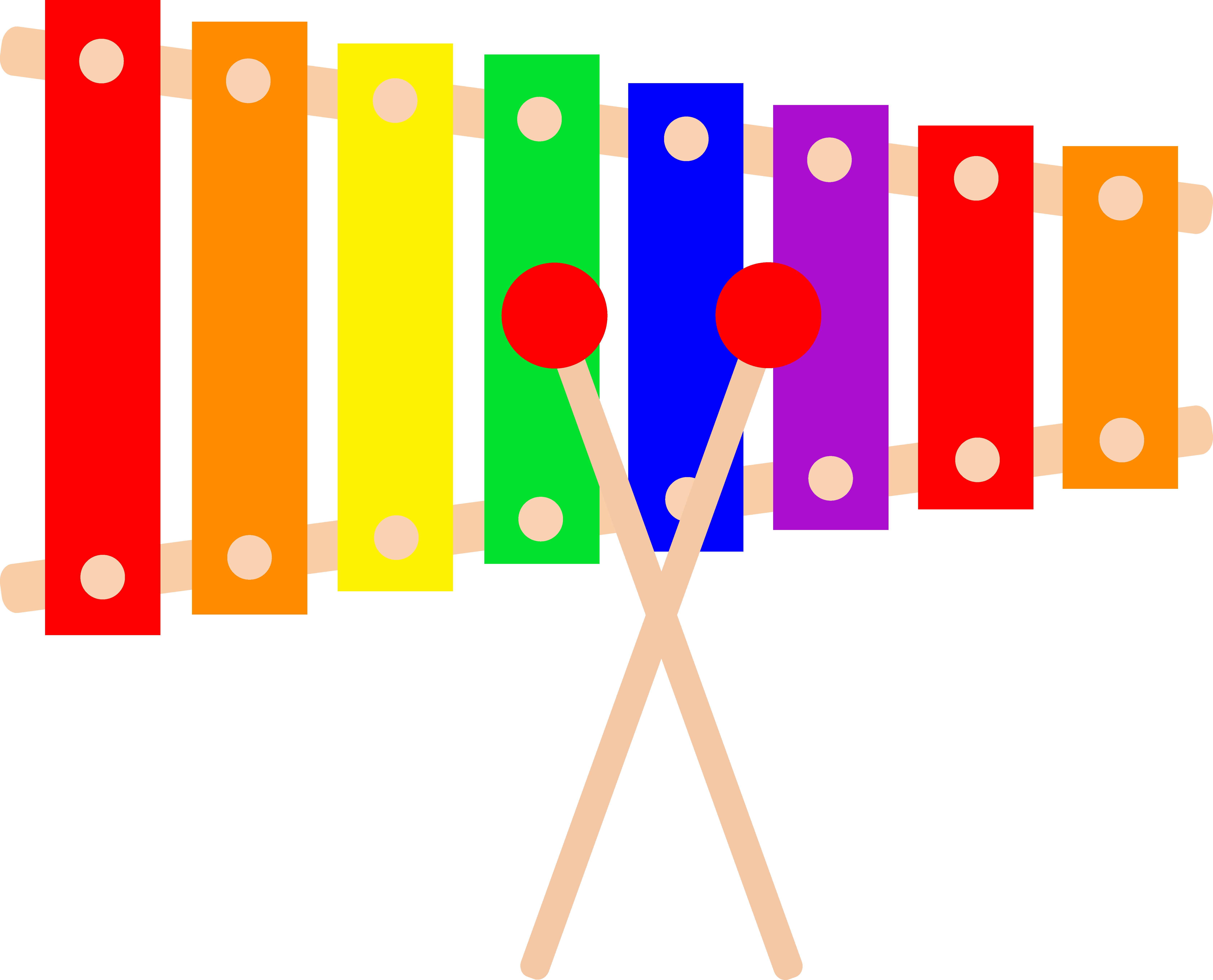 Victorian clipart xylophone clipart freeuse download Colorful Xylophone Design - Free Clip Art clipart freeuse download