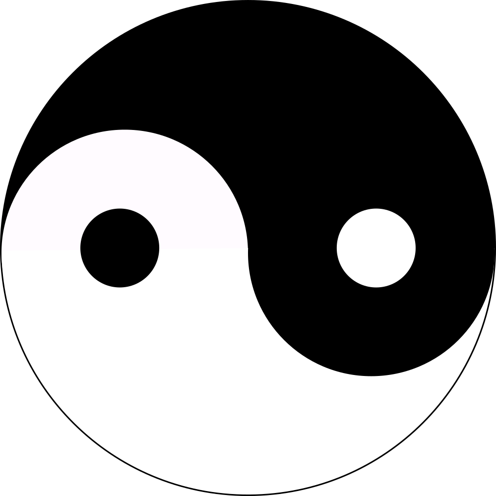 Yinyang clipart library OnlineLabels Clip Art - Yin-Yang library