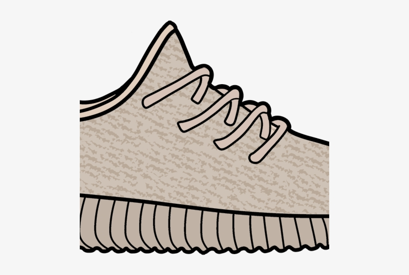 Clipart yeezy clipart black and white stock Yeezy Boost 350 Clipart Transparent PNG - 500x472 - Free Download on ... clipart black and white stock