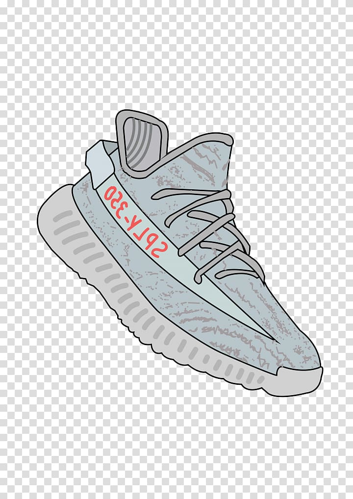 Clipart yeezy graphic royalty free Unpaired gray adidas Yeezy Boos 350 V2, Adidas Yeezy Shoe Sneaker ... graphic royalty free