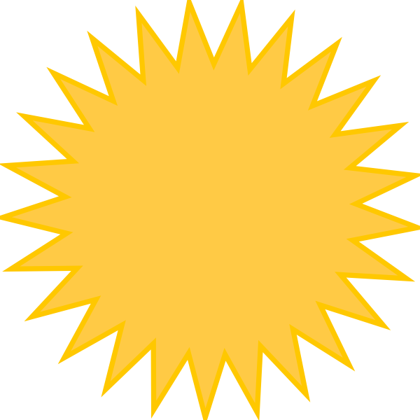 Philippines sun clipart png freeuse Golden Sun Yellow Clip Art at Clker.com - vector clip art online ... png freeuse