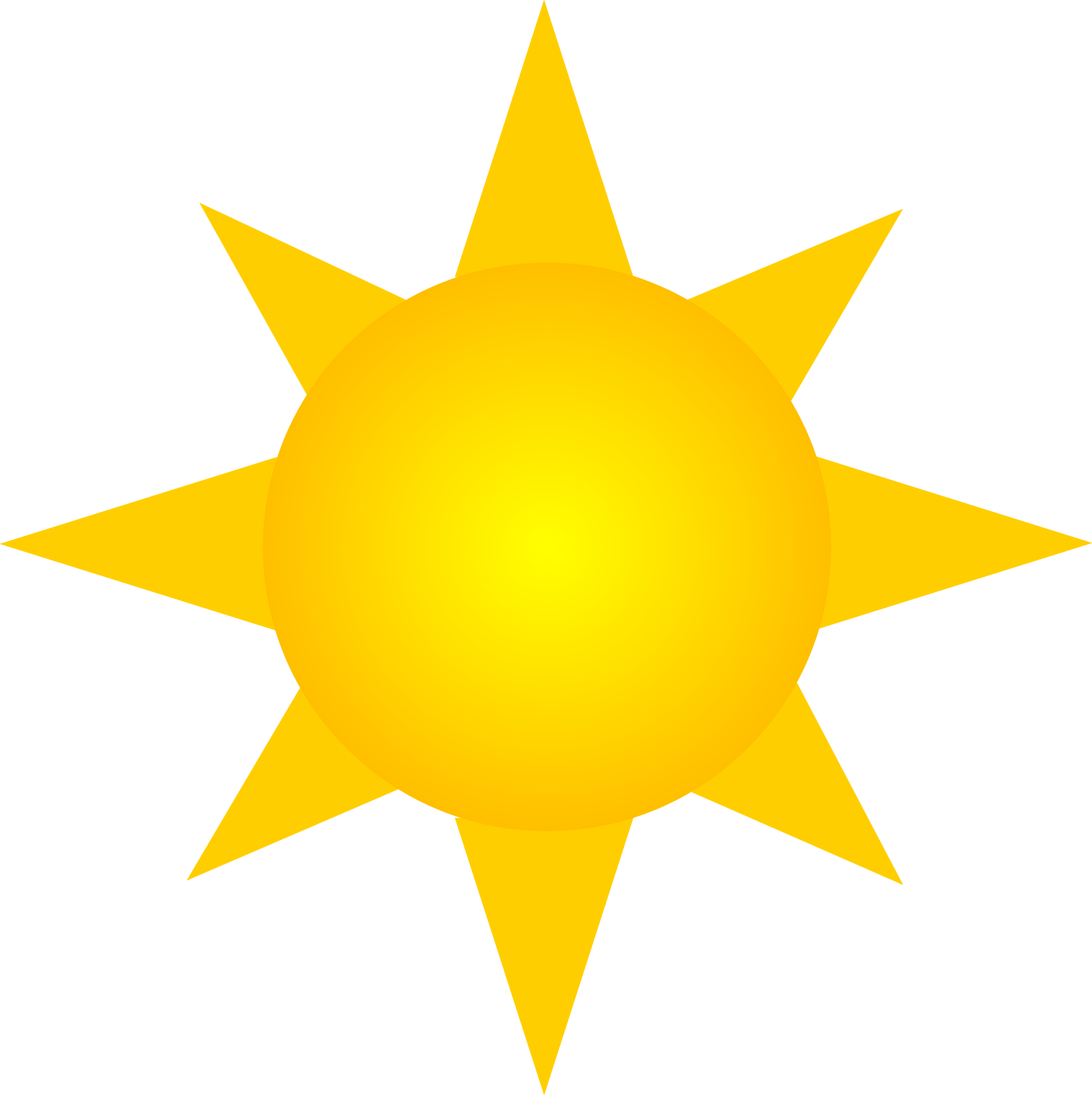Golden sun clipart clip royalty free download Sun Symbol - Version Two - Free Clip Art clip royalty free download