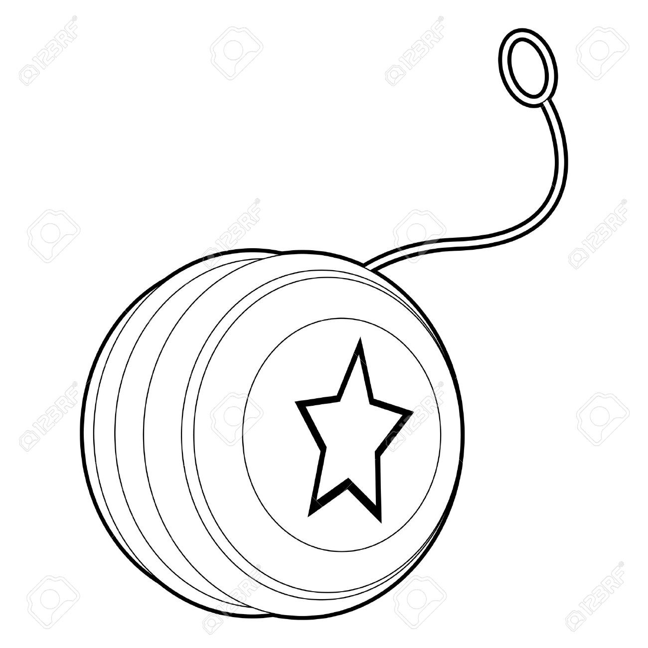Newl clipart image transparent Yoyo clip art black and white Coloring Book Outlined Yo Yo Royalty ... image transparent