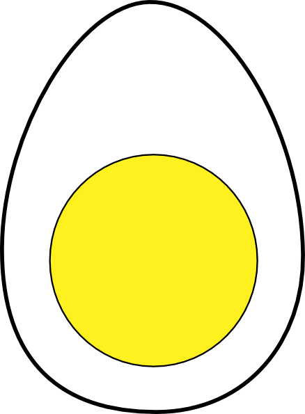 Clipart yolk clipart free stock Black And White Of Egg Yolk Clipart - Clipart Kid clipart free stock