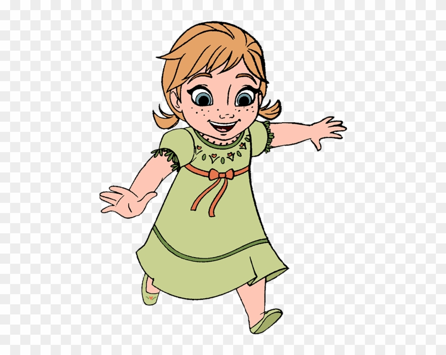 Clipart young clip art black and white library Young Anna-free Frozen Clipart - Young Anna Frozen Coloring Pages ... clip art black and white library