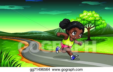 Clipart young black girl dancing and signing in field clip art free Vector Illustration - A black girl jogging. EPS Clipart gg71496564 ... clip art free