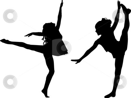 Clipart young black girl dancing and signing in field png black and white download free printable kids dance silouttes   Silhouette sport dance stock ... png black and white download