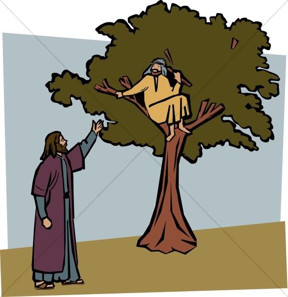 Clipart zacchaeus clip download Jesus Invites Zacchaeus Down from the Tree | New Testament Clipart clip download