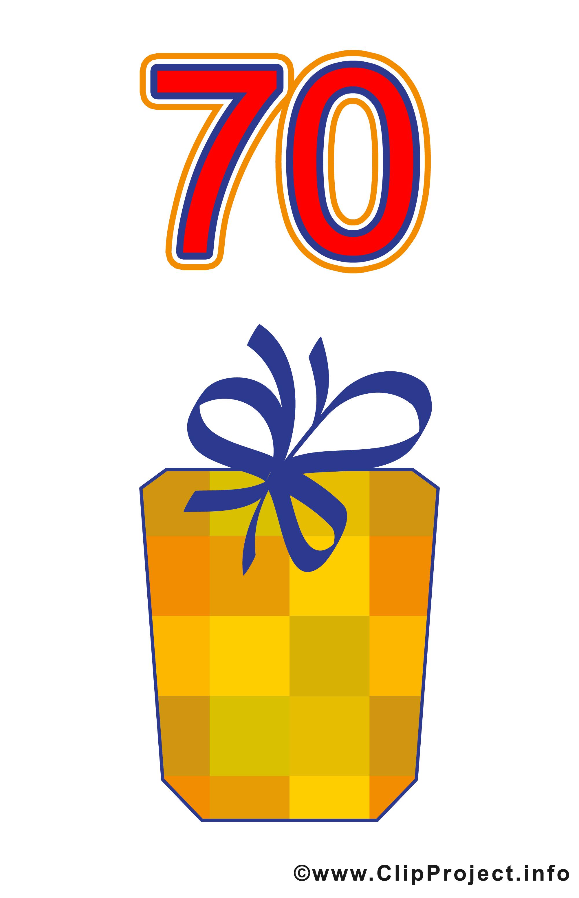 Clipart zahlen geburtstag image transparent stock Geschenk zum 70 Geburtstag Clipart gratis image transparent stock