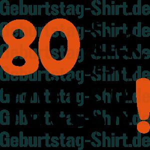 Clipart zum 80 geburtstag.  t shirts und