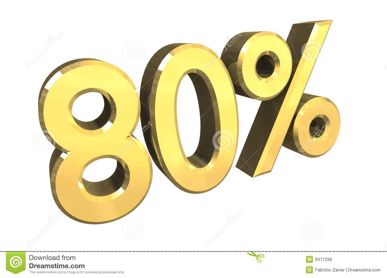 Eighty stock illustrations percent. Clipart zum 80 geburtstag