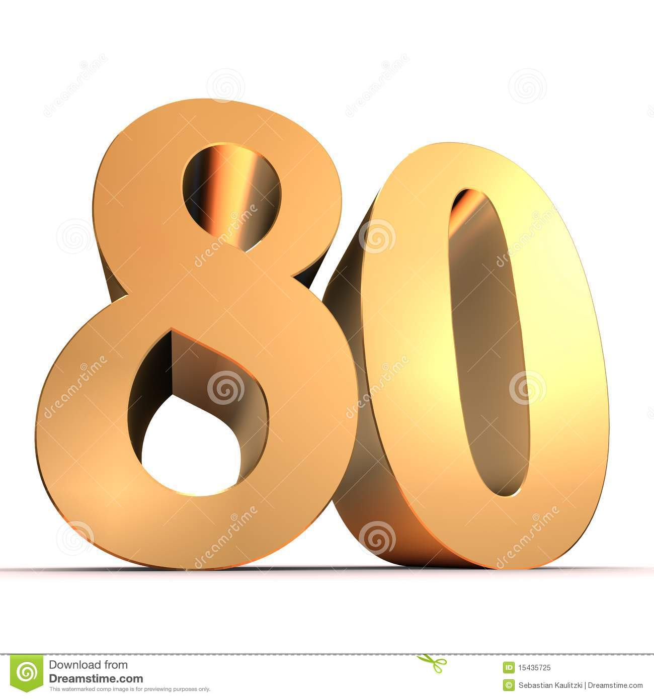 Clipart zum 80 geburtstag clipart freeuse library Golden 80 Stock Photos, Images, & Pictures - 261 Images clipart freeuse library