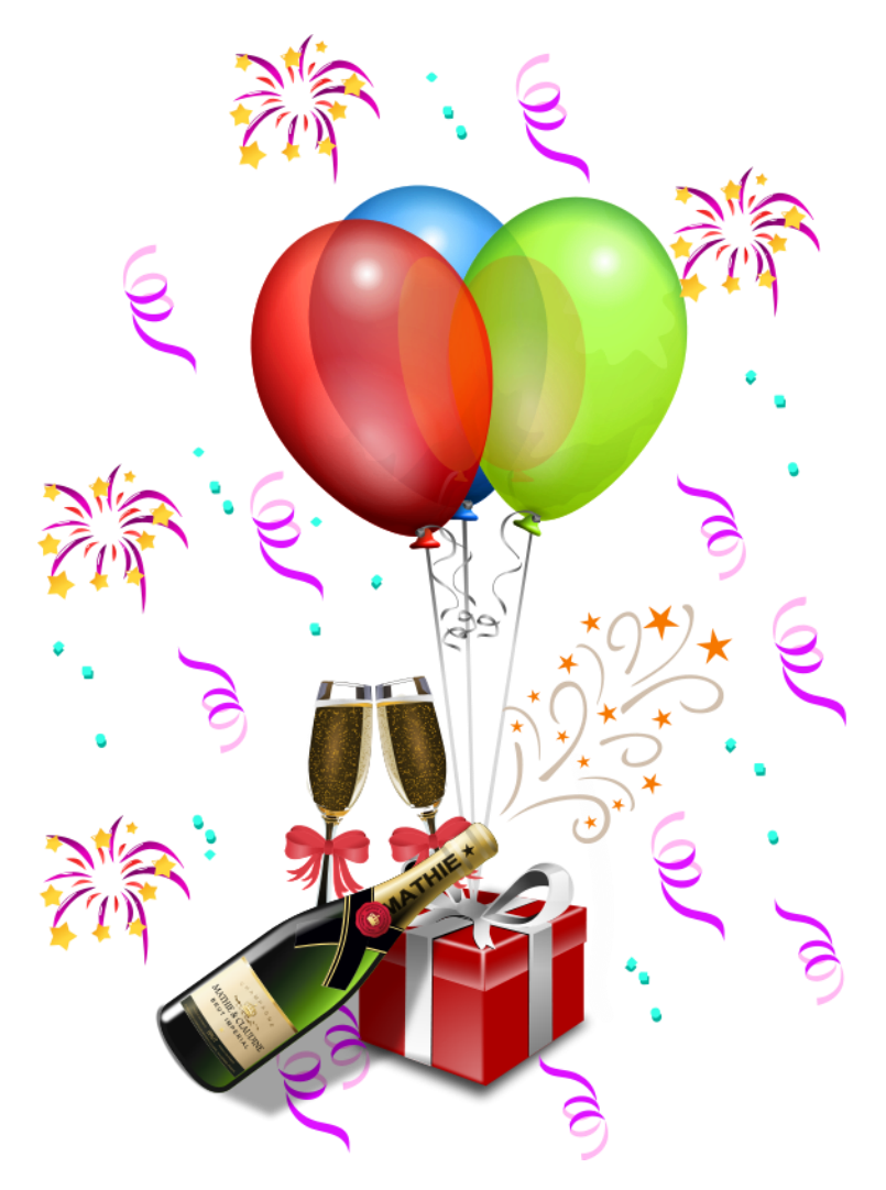 Clipart zum geburtstag. Party decoration transparent png